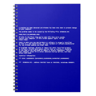 Blue Screen of Death Note Books