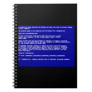 Blue Screen of Death Note Book