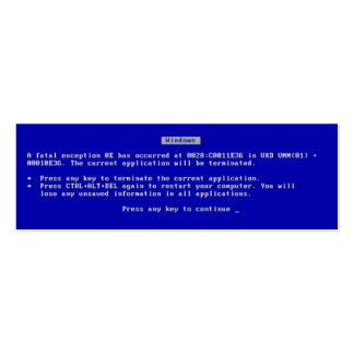 Blue Screen of Death Pack Of Skinny Business Cards