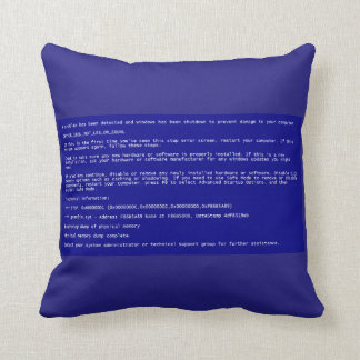 Blue Screen of Death Pillow