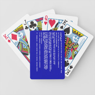 Blue Screen of Death Deck Of Cards