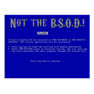 Blue Screen of Death Post Cards