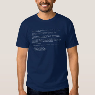 Blue Screen of Death T-shirts