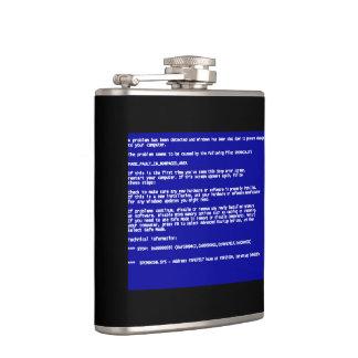 Blue Screen of Death Hip Flasks