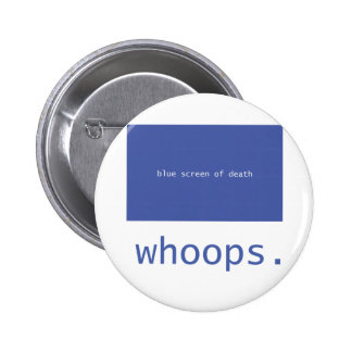 Blue screen of death - whoops! buttons