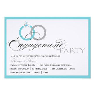 Blue Script Engagement Party Invitation