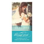 BLUE SCRIPT THANKS | WEDDING THANK YOU CARD PHOTO CARD TEMPLATE