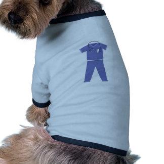 Blue Scrubs Dog T Shirt