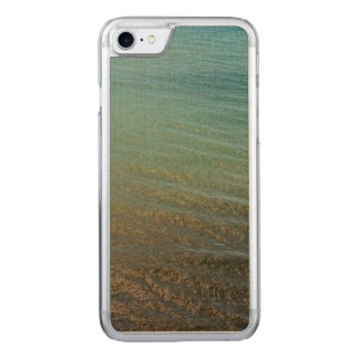 Blue sea background carved iPhone 8/7 case