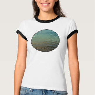Blue sea background t shirts