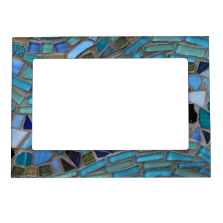 Blue Sea Glass Mosaic Magnetic Picture Frame