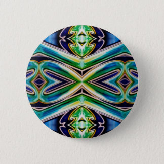 Blue Sea Green Pop Soothing Pattern 6 Cm Round Badge