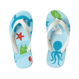 Blue Sea Kid's Thongs