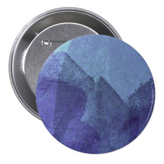Blue sea ocean nature abstract painting art 7.5 cm round badge