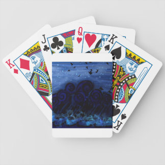 Blue Sea of Melancholy Bicycle Playing Cards
