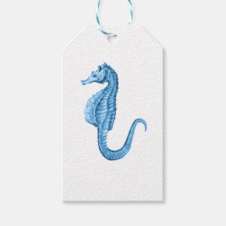 Blue seahorse coastal nautical ocean beach
