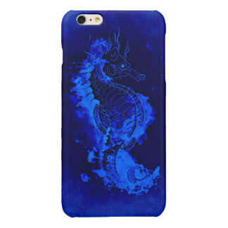 Blue Seahorse Painting