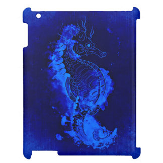 Blue Seahorse Painting Case For The iPad 2 3 4