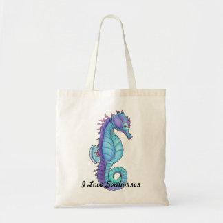 Blue Seahorse Tote Bag