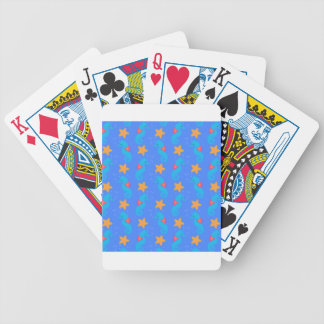 Blue Seahorses And Starfish Pattern Bicycle Playing Cards