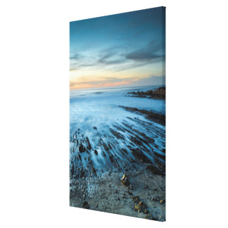 Blue seascape at sunset, California Canvas Print