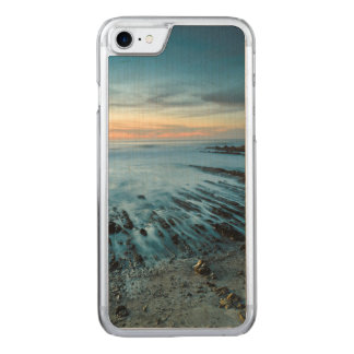 Blue seascape at sunset, California Carved iPhone 8/7 Case