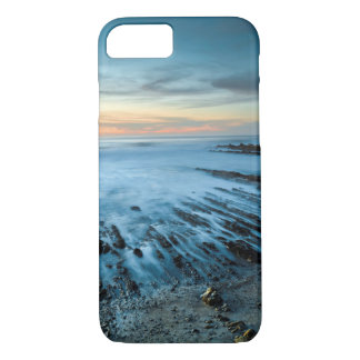 Blue seascape at sunset, California iPhone 8/7 Case