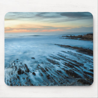 Blue seascape at sunset, California Mouse Pad