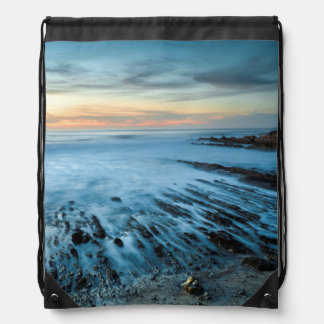 Blue seascape at sunset, California Rucksacks