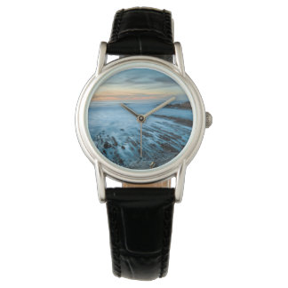Blue seascape at sunset, California Watch