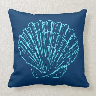 Blue Seashell Cushion