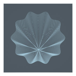 Blue seashell  I Poster