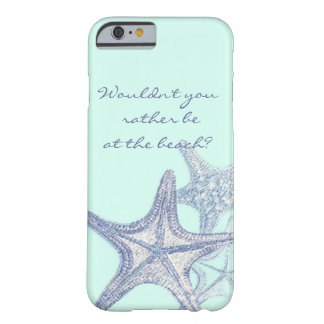 Blue seastar iPhone 6 case Barely There iPhone 6 Case