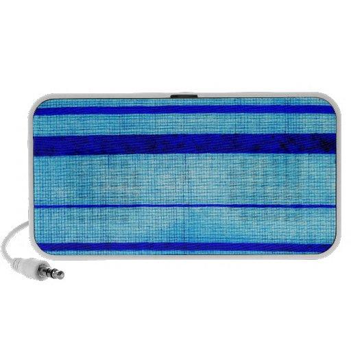 Blue Sha Gauze Weave with Stripes Print 1825 Notebook Speaker