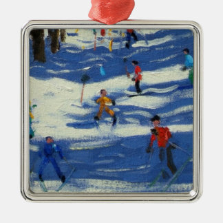 Blue shadows Morzine Metal Ornament
