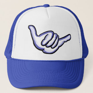 Blue shaka Hawaii hat