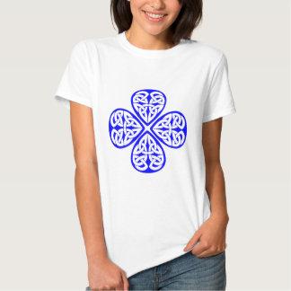 blue shamrock celtic knot tee shirt