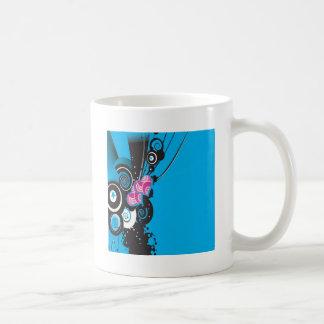 Blue shapes design coffee mugs