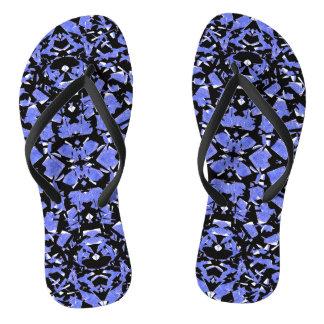Blue Shapes Flip Flops