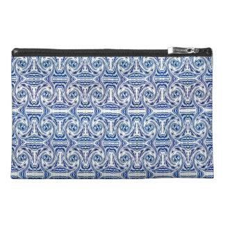 Blue Shapes Travel Acessory Bag