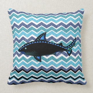 BLUE SHARK 100 WAVE STRIPE CUSHION