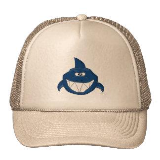 Blue shark cap
