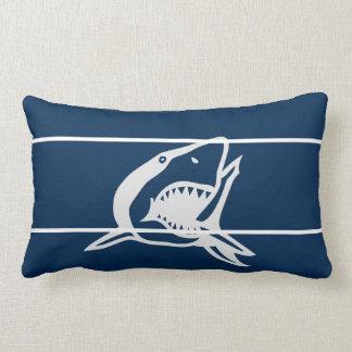 Blue shark  on pillow