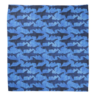 Blue Sharks for Cowboys, Bandits and Naughty Dogs Bandana