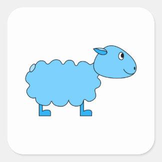 Blue Sheep. Square Sticker