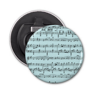 Blue Sheet Music Bottle Opener