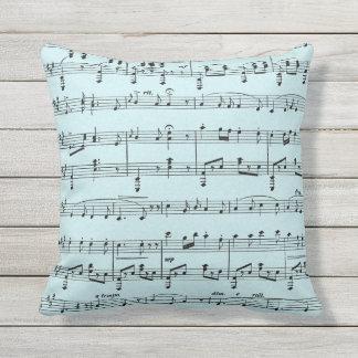 Blue Sheet Music Cushion