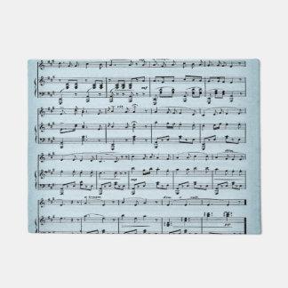 Blue Sheet Music Doormat