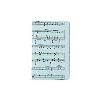 Blue Sheet Music Pocket Moleskine Notebook