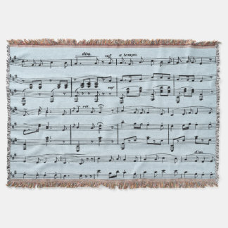 Blue  Sheet Music Throw Blanket